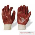 Перчатки облитые ПВХ красные